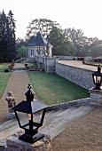 View of baroque garden in Munchausen castle