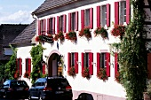 Exterior of the Hotel De Charme 'Zum Schiff' in Iffezheim, Germany