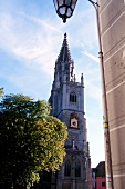 Exterior of church steeple in Konstanz, Germany