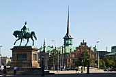 Statue of Frederik VII at Christiansborg Castle square in Copenhagen, Denmark