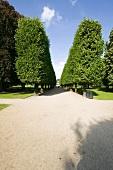 Garden of Rosenborg Castle in Copenhagen, Denmark