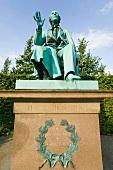 Statue of Hans Christian Andersen in garden of Rosenborg Castle, Copenhagen, Denmark