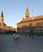 View of Town Hall and Town Hall Square in Copenhagen, Denmark