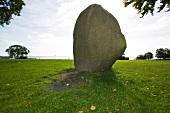 Large stone in garden at Klampenborg, Copenhagen, Denmark
