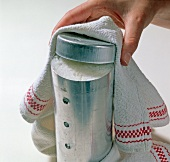 Reis, Hülse abkühlen lassen, Deckel abnehmen, Step 4