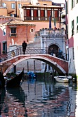 View of foot bridge in Venice, Italy