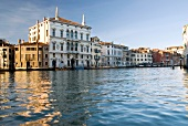Facade of houses beside Grand Canal, Venice, Italy
