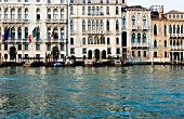 Facade of buildings on Grand Canal in Venice, Italy