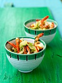 Cucumber salad with prawns (Asia)