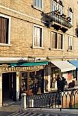 Facade of Cantine Del Vino Gia Schiavi restaurant, Venice, Italy