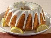 Lemon cake with lemon icing