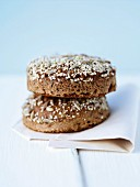Two slices of dark wholemeal bread