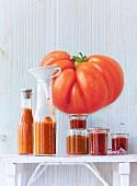Tomato ketchup and tomato chutney