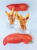 Crispy tomato grissini