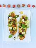 Tartes a la nicoise, vegetarisch