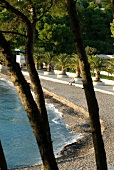 View of Le Meridien Lav with coastal beach and trees in Split, Croatia