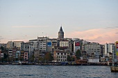 View of Galata Tower and the city of Istanbul, Turkey
