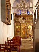 Interior of Church on Pelion Mountain, Eastern Magnesia, Greece