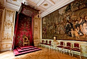 Interior with gild and mural in Throne room of Castle St. Emmeram, Germany