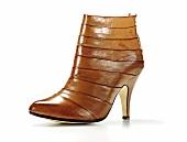 Freisteller, Ankle-Boots, StreifenLook, braun