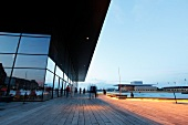 View of The Copenhagen Opera House and promenade, Denmark