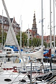 Sailboats at Christianshavn, Copenhagen, Denmark