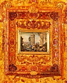 Close-up of painting at Catherine Palace of Tsarskoye Selo in Saint Petersburg, Russia