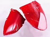 abgebrochene Lippenstiftspitzen