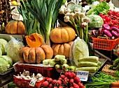 Various vegetables at market, St. Petersburg, Russia