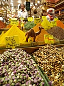 Various types of spices in Egyptian Bazaar, Istanbul
