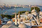 View of Topkapi Palace and Bosphorus Strait, Istanbul, Turkey