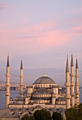 Istanbul: Sultan-Ahmed-Moschee, Meer Sonnenuntergang, malerisch