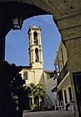 Türkei, Antakya, Gasse, katholische Kirche, Kirchturm, Glocke