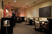 Dinning area with fine ambience in Alinea Restaurant, Chicago, USA