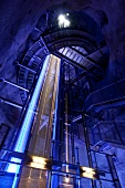 Low angle view of Graz glass lift system in Schlossberg, Styria