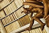 Close-up of devil statue in Admont Admonder library, Styria, Austria