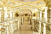 View of Admont Admonder Library Hall in Styria, Austria