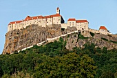 Low angle view of castle Rieger in Mountain, Styria, Austria