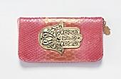 Mini-Tasche im Python-Look in Rosa