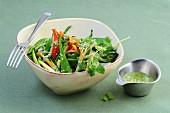 Vegetable salad with Thai pesto (Asia)