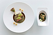 Muritz lamb with oriental spices on plate