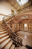 Elegant staircase in a villa on the Oppenhoffallee, Aachen, Germany