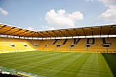 View of empty Football Stadium, Aachen, Germany