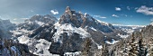 Südtirol, Dolomiten, Alta Badia, Berglandschaft mit dem Sassongher