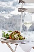Tagliolini with fresh porcini mushrooms (Restaurant Oies, Pedraces, Alta Badia, Italy)