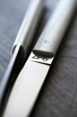 Close-up of elegant design knife by Yves Charles