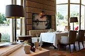 Interior of room in Gourmet Restaurant