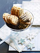 Christmas biscuits: poppyseed biscuits and shortbread biscuits
