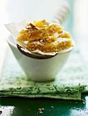 Pecan nut corners with orange