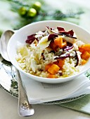 Risotto with pumpkin, trevisano and Gorgonzola
